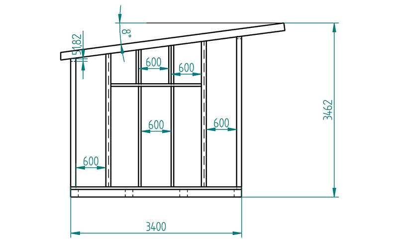 Как построить каркасный сарай с односкатной крышей: подробно о востребованных вариантах строительства