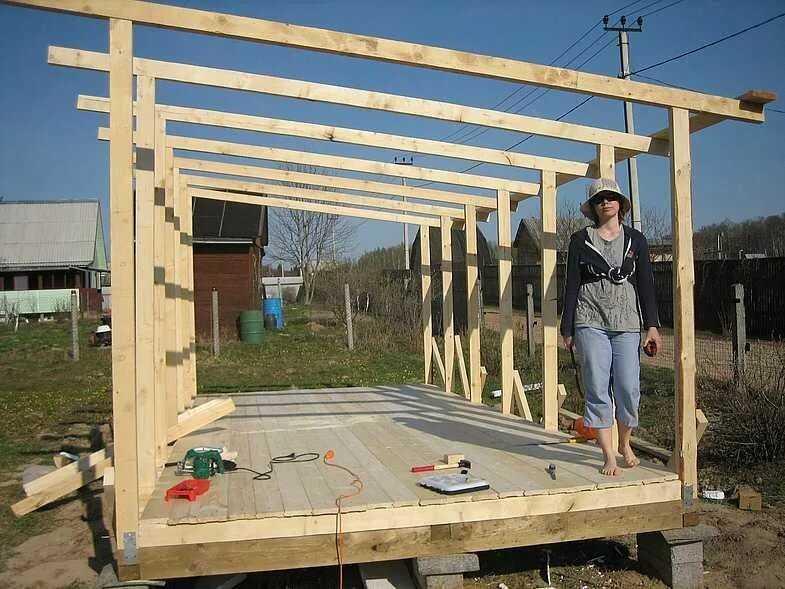Как дешево построить сарай своими руками: выбор материалов, порядок выполнения, фото